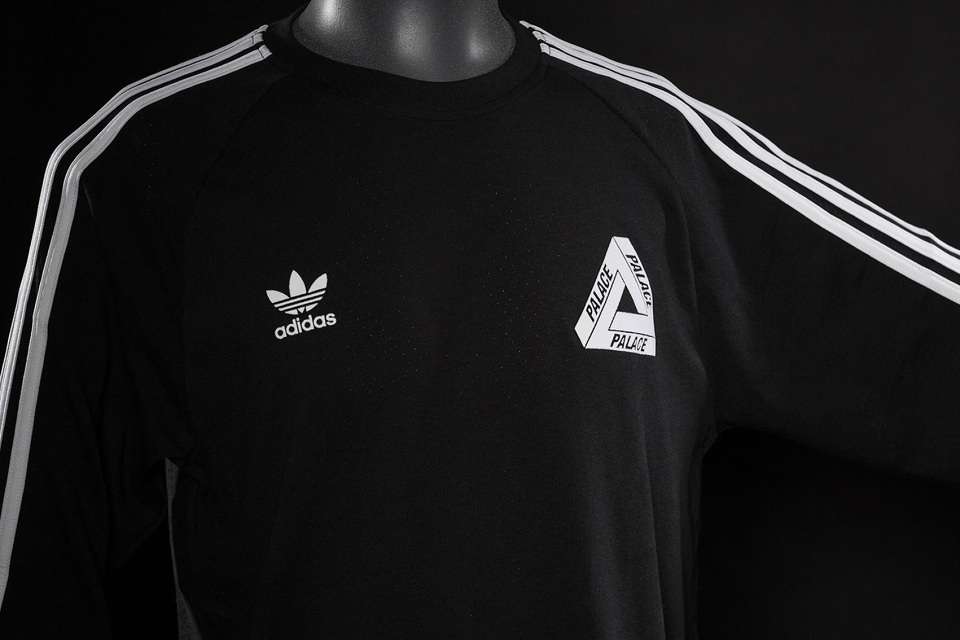 5c70ebd1980d ... this throwback sportswear collaboration has vintage adidas branding  tracksuits with a huge striped detail and the Palace s logo of course.